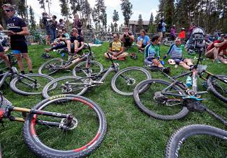 Participants in the 2015 Fall Classic mountain bike race join their friends and family for post-race food and beverages at Carter Park in Breckenridge in September. Hard to believe, but it's time for the start of yet another summer MTB season in Summit County — when the snow melts that is.
