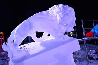 The sculptures will be on display for viewing until Feb. 7, weather permitting.