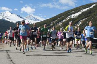Runners leave the start line for the 2015 Run the Rockies 10K and Half Marathon, an annual event from Copper to Frisco on the Tenmile Canyon rec path. The event returns this year on June 4.