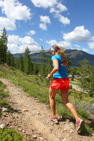 A runner travels solo on the trails at the Frisco Peninsula. To overcome a runner's plateau, local trainers suggest cross-training once or twice a week early in the season to boost overall strength, both mental and physical.