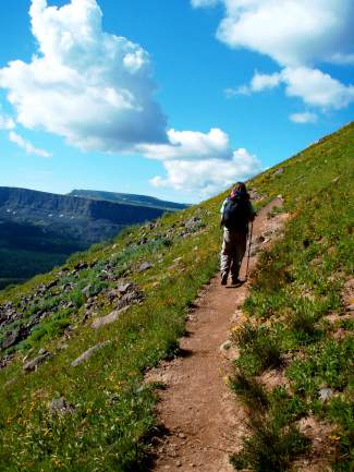 Vail resident Rita Wechter hikes in the Flat Tops Wilderness area, found in the White River National Forest north of Glenwood Springs. Even casual hikers and backpackers can benefit from an early-season training program.