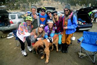 A couple hundred people gathered at Arapahoe Basin Ski Area on Wednesday, April 1, 2015, for the annual tradition of Gaper Day.