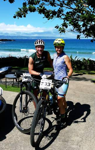 Summit locals Scott Bierman and Christena Ward in Maui, home to the 2015 Xterra World Championships, on Oct. 30. Both Bierman and Ward will compete in the off-road triathlon on Nov 1.