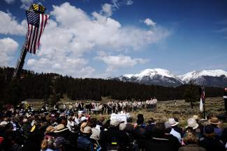 A large crowd of Summit County residents gathered at the Dillon Cemetery on Monday, May 30, to commemorate Memorial Day.