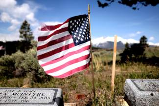 American flags dotted the Dillon Cemetery to mark Memorial Day on Monday, May 30.