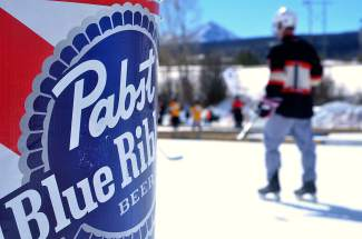 Scenes from the Pabst Blue Ribbon Colorado Pond Hockey Tournament on Feb. 13. The seventh annual tournament, held at North Pond Park in Silverthorne, drew 150 teams and more than 900 players from 45 states for three days of round-robin play and plenty of PBR.