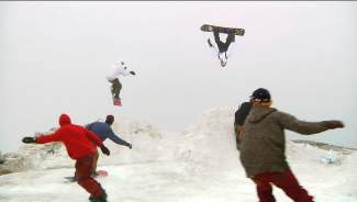 The backflip train at Mt. Hood in