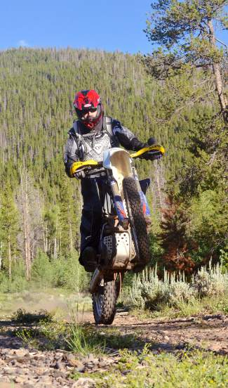 Tim Nixon of Summit County Off-Road Riders on moto-friendly trail in the Frisco area. The town on Thursday held an open house to review its trails master plan, which covers paved and dirt routes in and around the town.