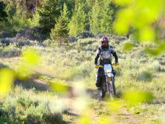 Tim Nixon of Summit County Off-Road Riders on a trail in the Frisco area. The president of the nonprofit hasn't ridden his motorcycle in the area for at least a year and recently discovered a favorite trail of his was closed to moto travel.