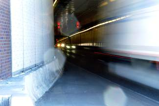The tunnels, at 11,155 feet above sea level, see about 28,000 vehicles per day.