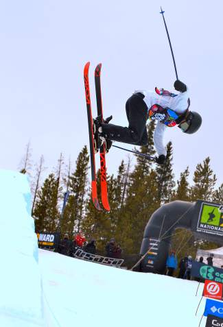 Carly Marguiles of Mammoth Lakes, California transitions during the women's open halfpipe finals at the 2016 USASA National Championships in Copper on April 12. Marguiles took first overall with a score of 83.75.