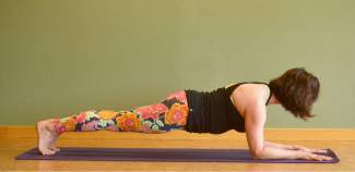 Forearm plank for kayakers and rafters.