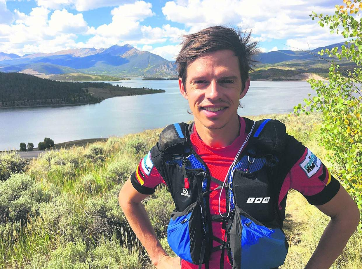 German-born ultrarunner Ben Dame in his new training grounds of Summit County. The 36-year-old vegan traithlete is in town training for the Atacama Crossing, a seven-day, 250-kilometer solo race through the dry (and high) Atacama Desert in Chile.