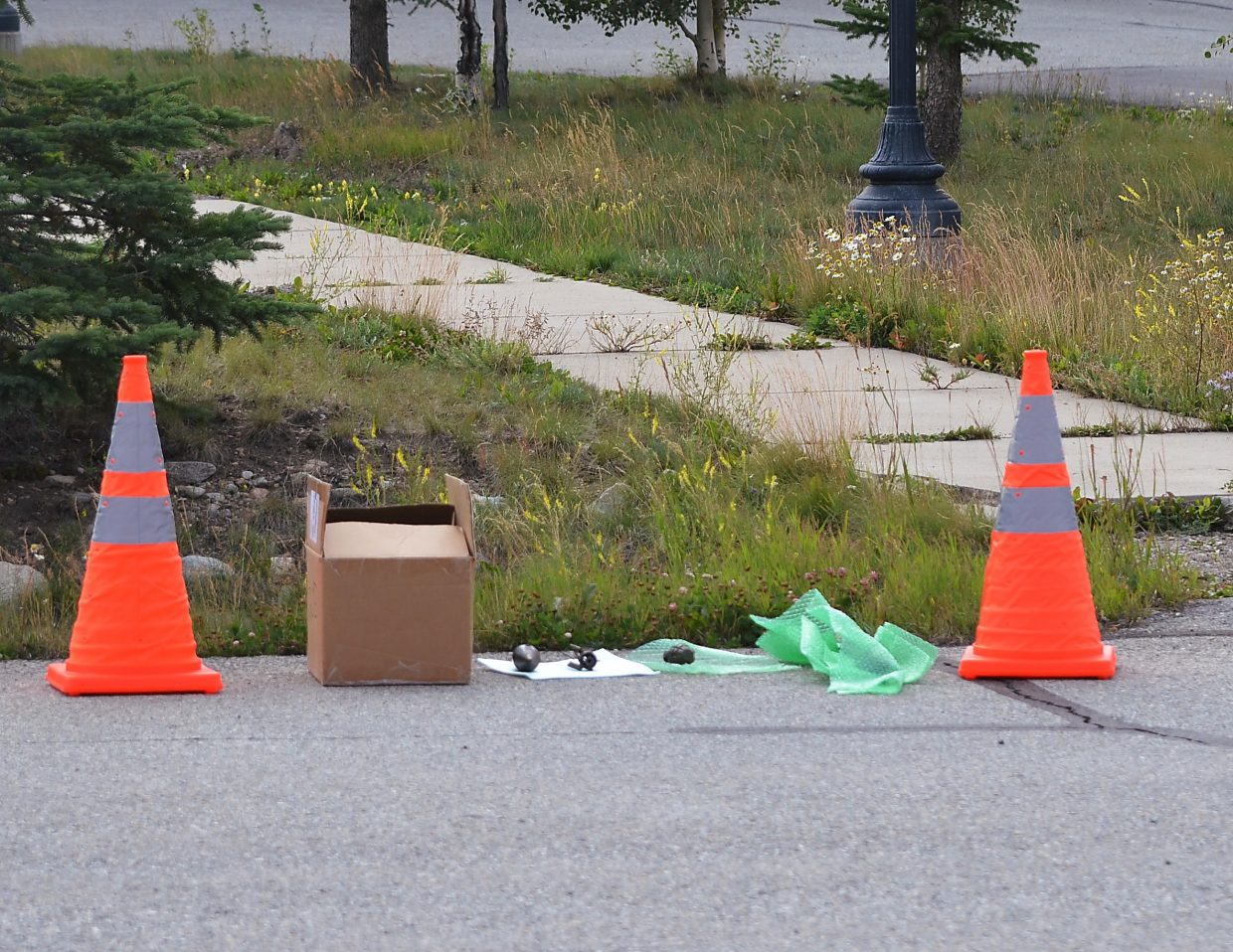 World War II-era hand grenades and bazooka rounds wait to be disposed of by the Jefferson County bomb squad.