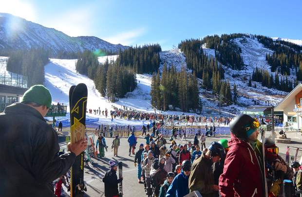 The season pass line nearly rivaled the lift lines during opening day at Arapahoe Basin on Oct. 21, when roughly 3,000 skiers and snowboarders descended on the tiny resort for the official start to the 2016-17 ski season in North America.