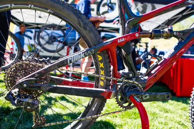 Spot Rollik 557 was on demo during Outlier Festival, Sept. 9-11, in Vail Village. Along with demos, races took place Saturday and Sunday, and the Golden-based company is introducing its first full-suspension, all-carbon mountain bike.