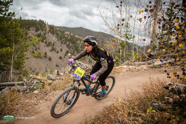 Battle Mountain High School senior Jacqueline Alvarez during a recent mountain bike race. The captain of The Cycle Effect, a local nonprofit for teen girls, raced in the Colorado state championships on Sunday — just four years after first getting on a bike and placing last in almost every event.