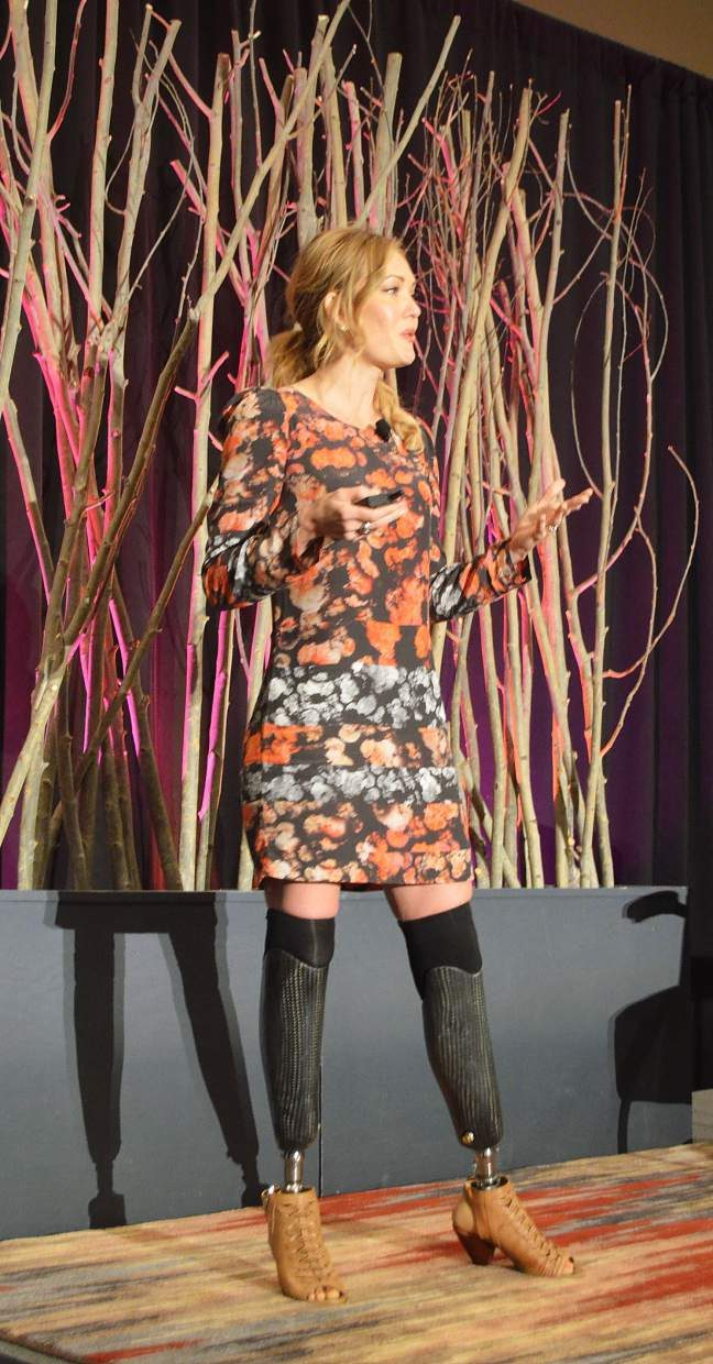 Local celebrity Amy Purdy acted as the keynote speaker at the annual COO breakfast held at Copper Mountain Resort on Tuesday, Oct. 4. Her inspirational story of recovery after losing both legs below the knee to bacterial meningitis at the age of 19 left many in tears.