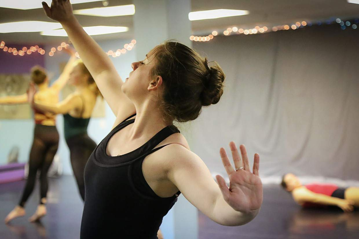 Summit High senior Megan Kidd during rehearsal at Alpine Dance Academy in Frisco. The 17-year-old travels to Denver two or three times per year for competitions and rarely gets the chance to perform locally.