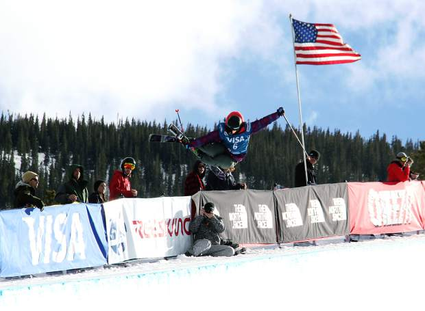 Devin Logan airs out of Copper's halfpipe on her way to a second place finish at the 2014 U.S. Grand Prix superpipe finals. Logan returns to Breckenridge this weekend for women's ski slopestyle on Dec. 9 and Dec. 10.