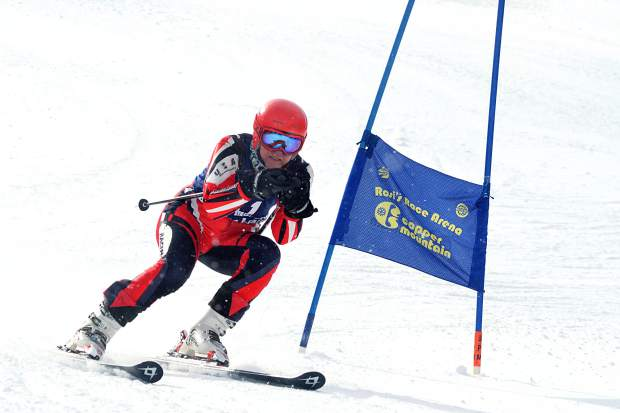 A racer on the course at the Copper Business League race series giant slalom, Feb. 18. The series returns for 2016 on Jan. 12 with bi-monthly Thursday races.