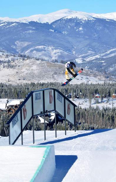 Silverthorne local Red Gerard competes in his first men's Dew Tour snowboard slopestyle in 2015 at Breckenridge. The 16-year-old returns for this year's reimagined competition from Dec. 8-11.