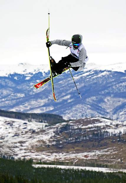 Canada's Evan McEachran floats over the second jump during the Dew Tour men's slopestyle semi-finals at Breckenridge Ski Resort in 2015. The event returns to Breckenridge with a new format Oct. 8-11, including a two-part ski and snowboard slopestyle for men and women on Dec. 9, 10 and 11.