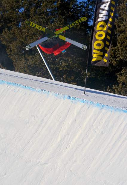 Sam Ward, right 900 out of the Woodward Copper halfpipe.