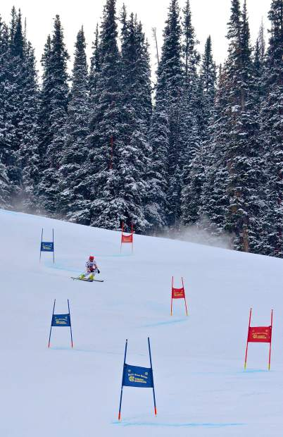 A skier picks his way through the final few gates of the giant slalom course at Copper Mountain during the 2016 Surefoot FIS Colorado Ski Cup on Nov. 30. The annual event drew nearly 400 male and female ski racers from 23 nations for four days of GS and super-G racing.