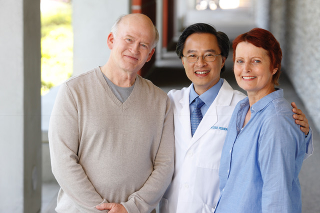 Dr. with Patients
