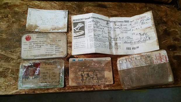 Here are the contents of a wallet apparently lost around 1980 near De Beque.