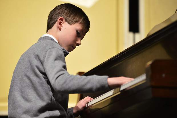 Ethan Windsor performs his original composition,