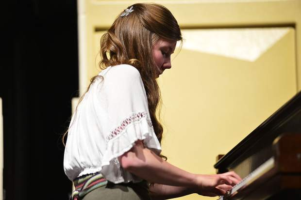 Lily Windsor performs her original composition,