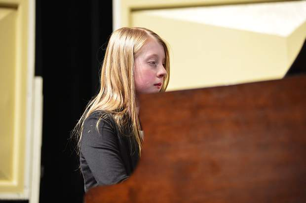 Kayla Pazin performs her original composition,