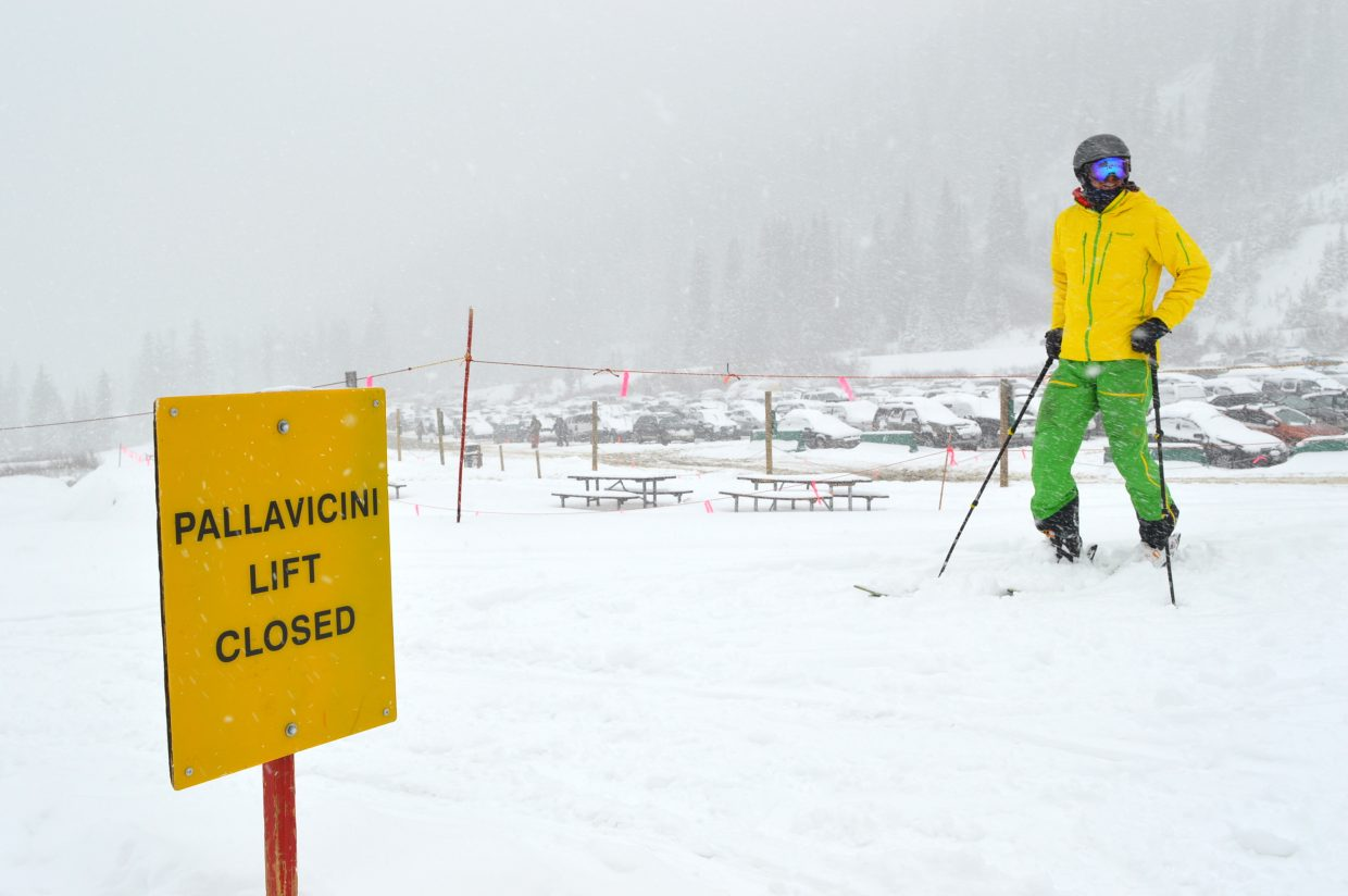 Arapahoe Basin saw plenty of skiers out for a powder day.