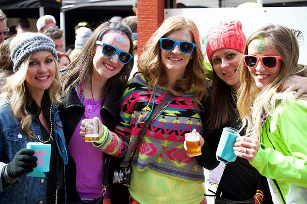 A group from Florida decided that the Breckenridge Spring Beer Festival on April 7 would be the perfect addition to the bachelorette party for Jessica Lemar, far right.