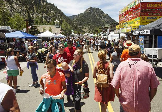 Crowds fill Main Street during the annual Colorado BBQ Challenge event Friday, June 16, on Main Street in Frisco.