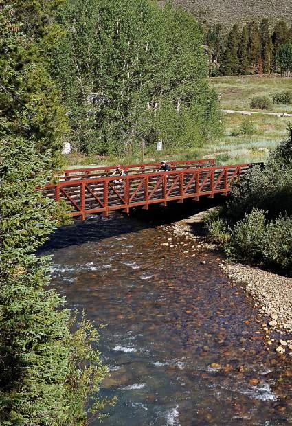 The Snake River Rec Path in Keystone, CO.