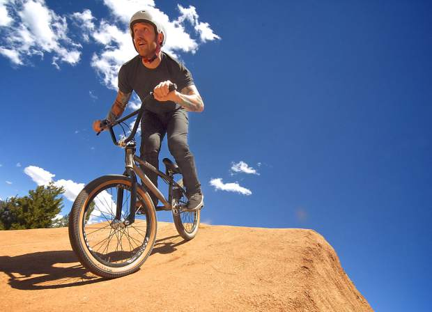 Nick Smith of Denver at the annual Frisco Bike Fling jump jam at the Frisco Bike Park on June 24. More than 20 riders came for the free jump jam and dual-slalom races.