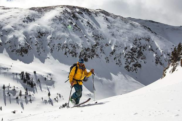 Frisco backcountry skier Gary Fondl on a touring trip to the Continental Divide this past ski season, when the longtime local set a lofty goal: 500,000 vetical feet for his 50th birthday. Fondl is also on his 82nd consecutive month of skiing, all in Colorado.