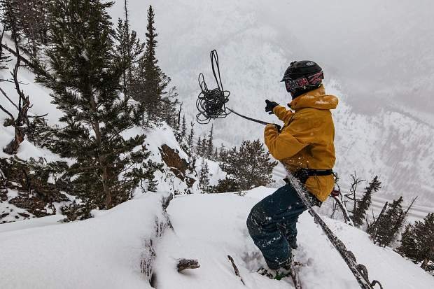 Frisco's Gary Fondl sets a line on the Coin Slot off of Mount Royal this past ski season. The route is one of many in the longtime local's backyard, from Frisco to Breckenridge to the Continental Divide, where he recently skied 500,000 vertical feet for his 50th.