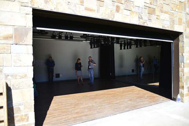 The smallest and most intimate of three performance areas at the Silverthorne Performing Arts Center, The Lab features a large garage-style door that can be opened to create an indoor-outdoor performance at the center.