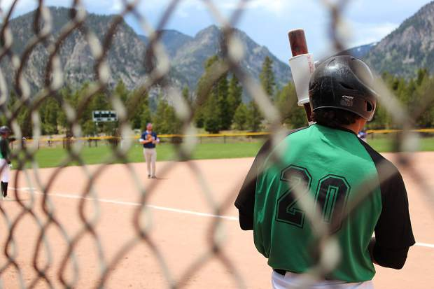 Summit's Rodney Perez, out of Hartnell Community College, on-deck in Tuesday's game against the GameDay Saints. The Black Diamonds lost 2-7.