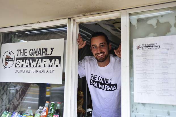 Anthony Tabanji, owner of the Gnarly Shawarma in Breckenridge, recently bought one of four standing large food cart licenses issued by the town and opened his small-scale, Mediterranean-style eatery in May.