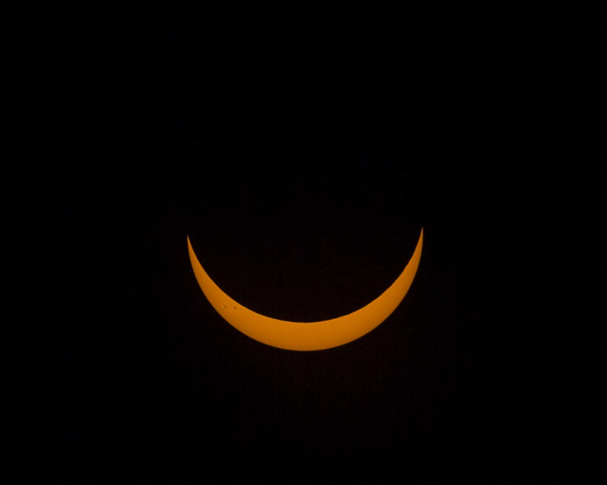 A nearly total solar eclipse is visible from Summit County late Monday morning, Aug. 21.