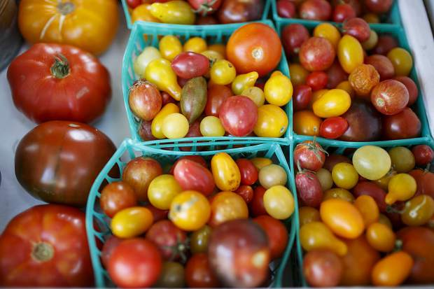 Tomatoes at Uncle John's Farm Stand Saturday, Sept. 9, in Frisco.