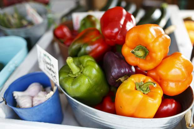 Bell peppers at Uncle John's Farm Stand Saturday, Sept. 9, in Frisco.