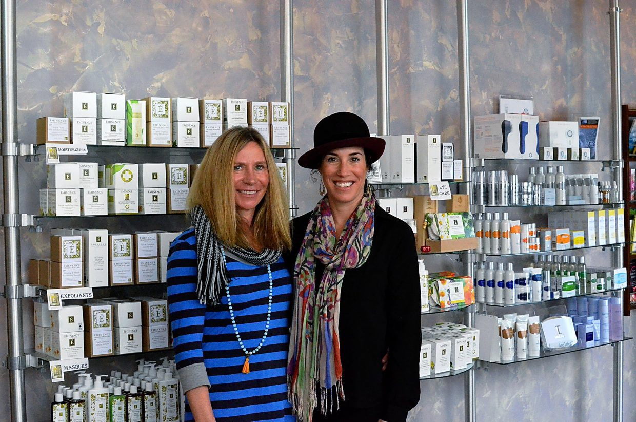 Caren Mapes-Lerc and Amy Beckett, co-owners of Blue Sage Spa.