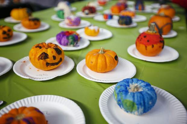 Painted pumpkins in the Fall Festival at the Riverwalk Center Saturday, Oct. 14, in Breckenridge.