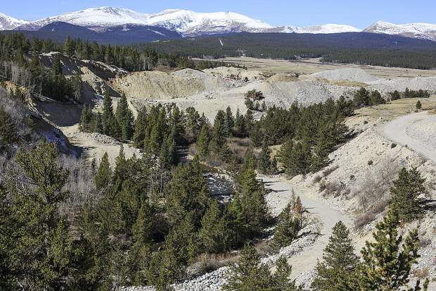 The site of a mining operation for the reality TV show Gold Rush near Fairplay. Residents say the show's presence has become a nuisance.